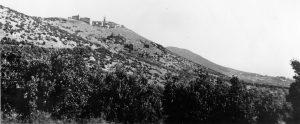 I ruderi di Guardea Vecchia in una foto del 1939