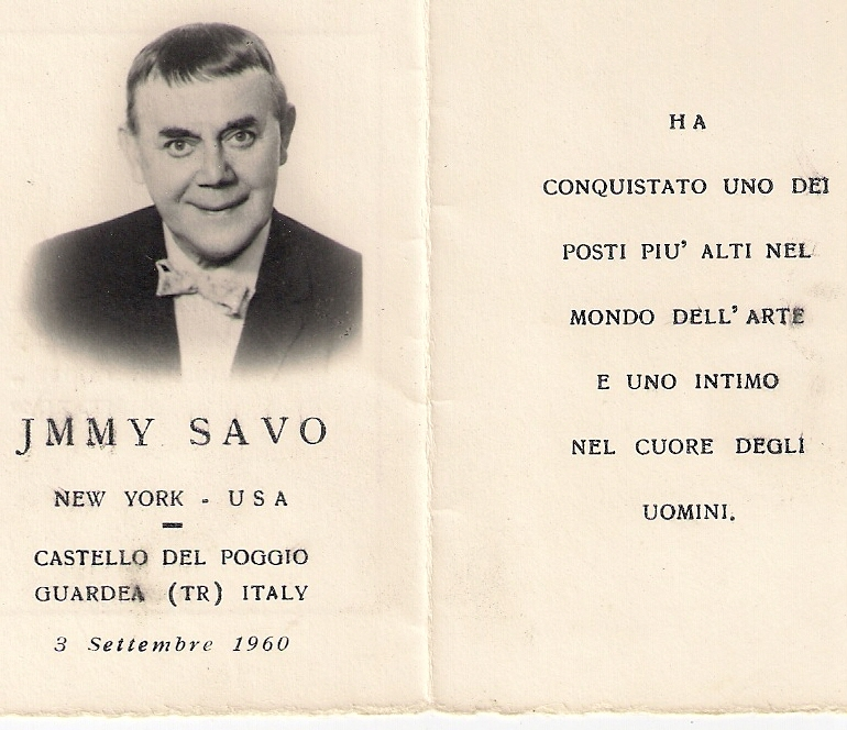 Ricordo di Jimmy Savo