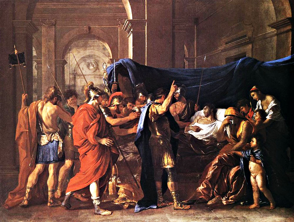 La morte di Germanicus in una tela di Poussin