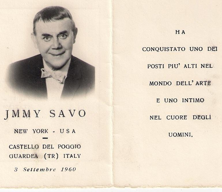 Ricordo di Jimmy Savo