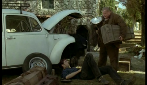 Una scena del film girata nel vecchio cimitero