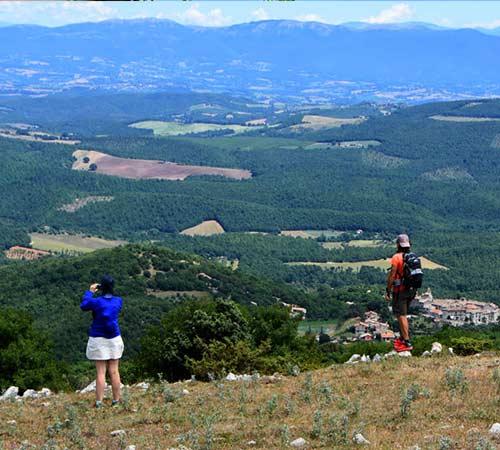 Vista panoramica dai monti amerini